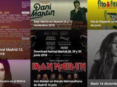 Mejores conciertos Madrid 2018